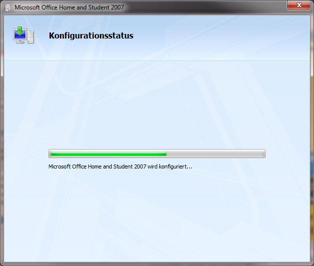 Microsoft Office Konfigurationsstatus bei Word