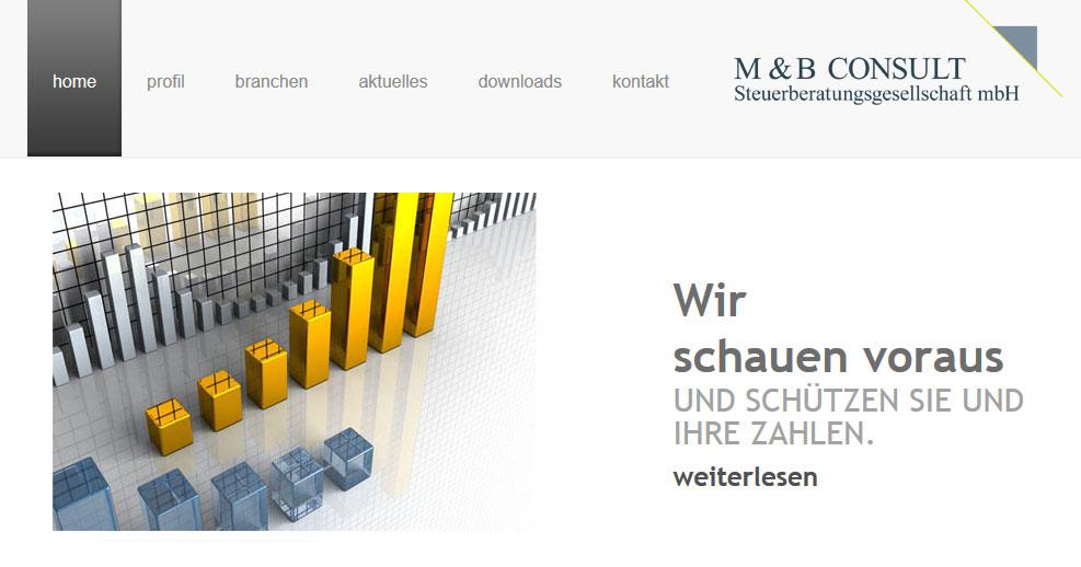 Web-Referenz: M&B Steuerberatung - steuerconsult.com