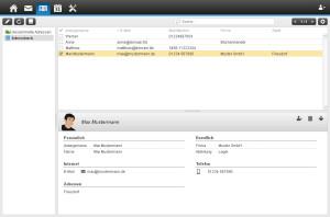 Webmailer - Adressbuch