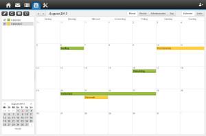Webmailer - Kalender