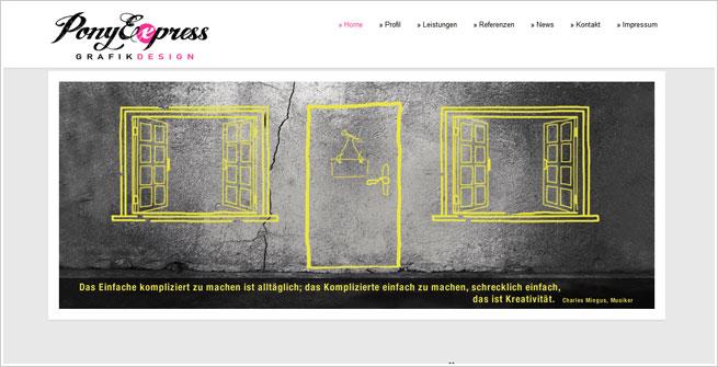 Webdesign und Grafikdesign für PonyExpress Grafikdesign