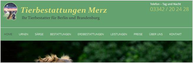 Tierbestattung für Berlin und Brandenburg