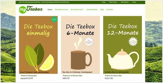 MyTeabox.de - Tee-Abo online bestellen