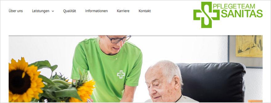 Webdesign für PTS Pflegeteam Sanitas in Kleinmachnow