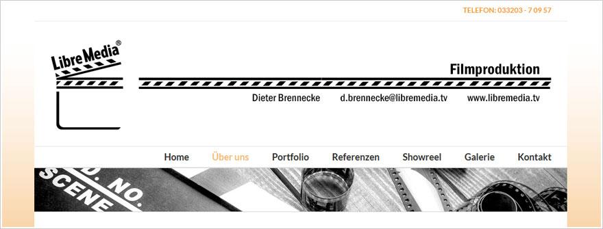 Webdesign und Redesign für LibreMedia Filmproduktion