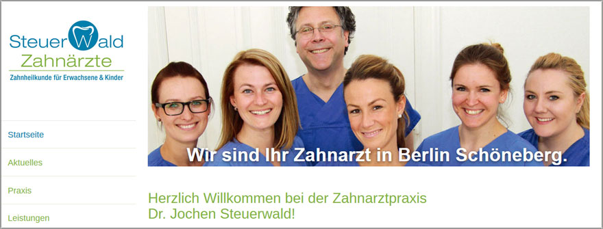 Webdesign für Zahnarzt Steuerwald