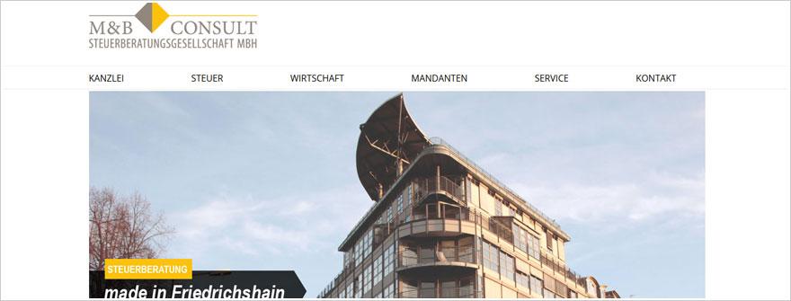 Redesign und Webdesign für M&B Steuerconsult
