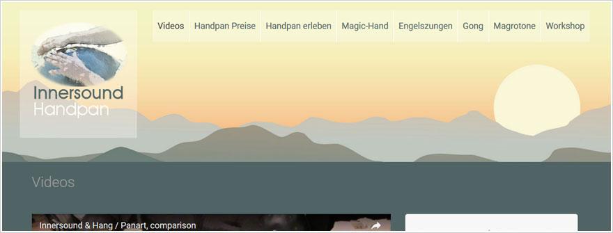 Webdesign für Innersound Handpa